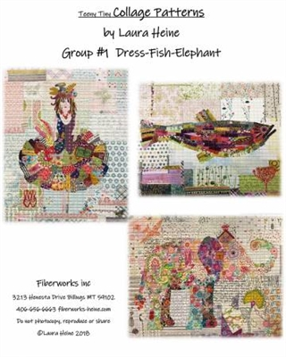 Teeny Tiny Collage Pattern Group 1 from Laura Heine