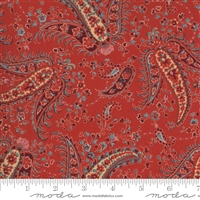 Ladies Legacy:  Miss Fields Studio Paisley in Cooper Red by Barbara Brackman