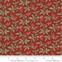 Ladies Legacy:  Gertrudes Wrapper Leaves in Cooper Red by Barbara Brackman