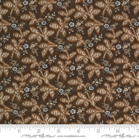 Ladies Legacy:  Gertrudes Wrapper Leaves in Yankee Chocolate Brown by Barbara Brackman