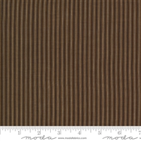 Ladies Legacy:  Samuels Patchwork Stripe in Yankee Chocolate Brown by Barbara Brackman
