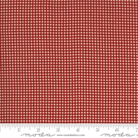 Ladies Legacy:  Lauras Pillow Cases Check in Cooper Red  by Barbara Brackman