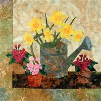 Daffodils Applique Pattern by Laundry Basket Quilts