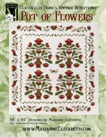 Marianne Elizabeth's POT OF FLOWERS or PRIDE OF IOWA QUILT PATTERN