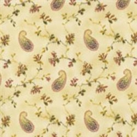 Aubrielle Leafy Paisley Tan/Russet Red 0203-03