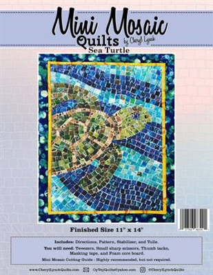 Mini Mosaics Quilt Pattern: Sea Turtle