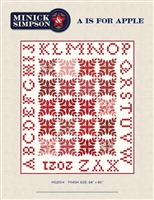 A is for Apple Quilt Pattern  by Minick & Simpson