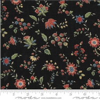 Elinores Endeavor: Trailing Floral in Ink Black