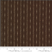 Elinores Endeavor: Delicate Shirting Stripe in Chocolate Brown