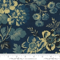 Maria's Sky Floral in  Indigo Blue by Betsy Chutchian for Moda