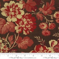 Maria's Sky Floral in  Chocolate Brown & Red by Betsy Chutchian for Moda