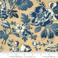 Maria's Sky Floral in Cream-Blue by Betsy Chutchian for Moda