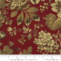 Maria's Sky Floral in Turkey Red by Betsy Chutchian for Moda