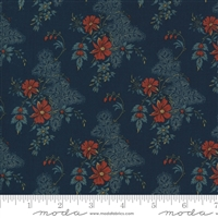 Maria's Sky Floral in  Indigo Blue  & Red by Betsy Chutchian for Moda