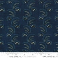 Maria's Sky Swirls in Indigo Blue  by Betsy Chutchian for Moda