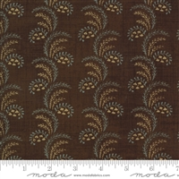 Maria's Sky Swirls in Chocolate Brown by Betsy Chutchian for Moda