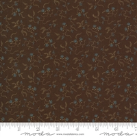 Maria's Sky Vines in Chestnut Brown  by Betsy Chutchian for Moda