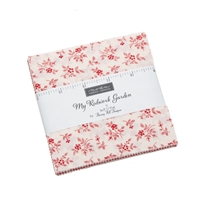 My Redwork Garden Charm Pack for MODA by Bunny Hill