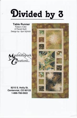Divided by 3 Table Runner Quilt Pattern