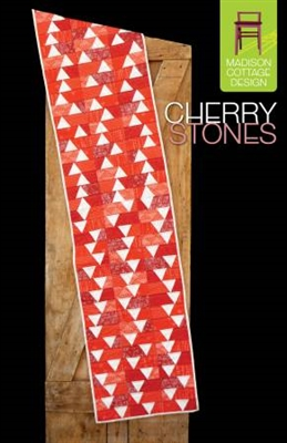 Cherry Stones Table Runner Quilt Pattern by Madison Cottage