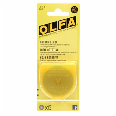 OLFA 45mm Rotary Blade Refill 5 pack