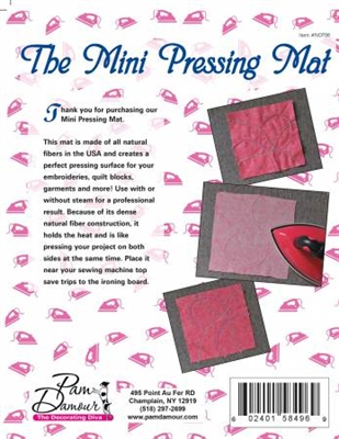 Mini Wool Pressing Mat by Pam Damour