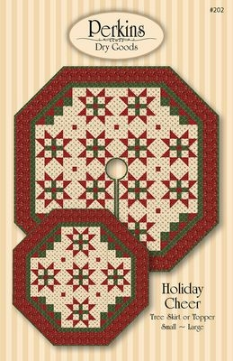 Holiday Cheer Tree Skirt Pattern by Perkins Dry Goods