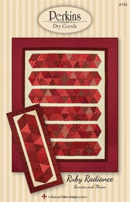 Ruby Radiance Lap Quilt and Table Runner Pattern