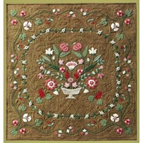 Antique Flower Garden Wool Applique Quilt Pattern