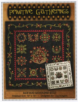 Backyard Gatherings Applique Quilt Pattern from Primitive Gatherings