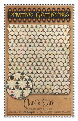 Clara's Star Quilt Pattern with Template by Primitive Gatherings