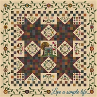 Live A Simple Life BOM Quilt Pattern: Primitive Gatherings: