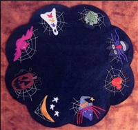 Halloween Night Table Mat Quilt Pattern