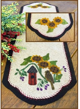 No Place Like Home Table Runner Wool Applique Quilt Pattern