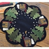 Winter Cabin Table Mat Wool Applique Quilt Pattern