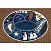Winter Crazy Embroidered Table Mat Wool Applique Quilt Pattern