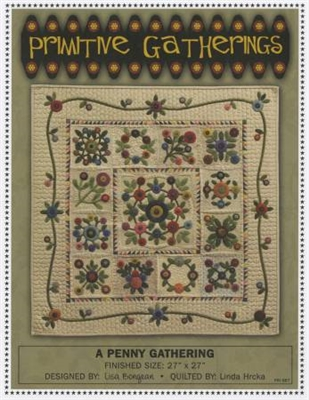 A Penny Gathering Applique Quilt Pattern