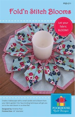 Fold'n Stitch Bloom Table Topper Pattern