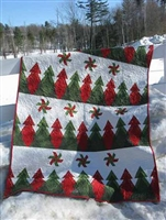Pine Ridge Quilt Throw Pattern by Poorhouse Quilt Designs