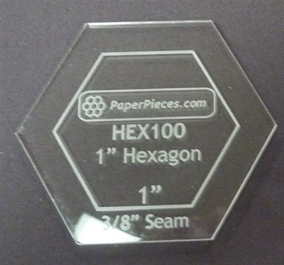 1 Inch Hexagon Acrylic Template