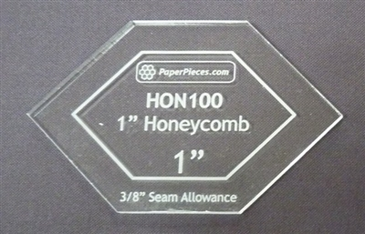 1 Inch HONEYCOMB ACRYLIC TEMPLATE