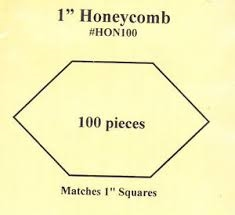 1 Inch HONEYCOMB Paper Pieces TEMPLATE
