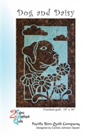 Dog and Daisy Applique Quilt Pattern