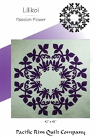 Lilikoi Passion Flower Quilt Pattern