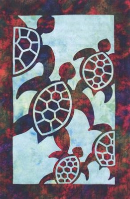 Turtles Applique Quilt Pattern