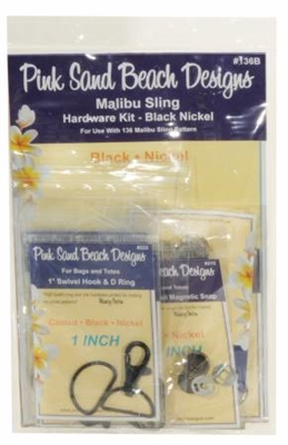 Malibu Sling Hardware Set Black Nickel by Pink Sand Beach Designs