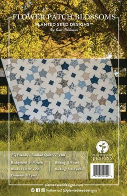 Blossoms and Flower Patch Quilt Pattern from Planted Seed Design