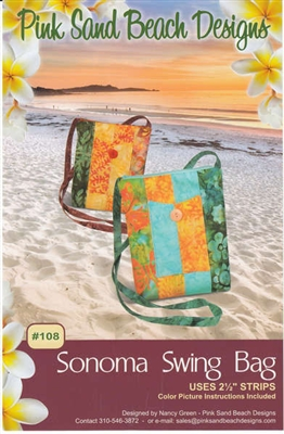 Sonomo Swing Bag  Quilt Pattern by Pink Sand Beach Designs