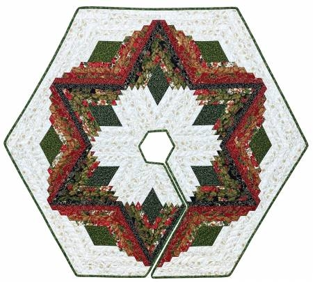 Christmas Tree Skirt Patterns.Diamond Log Cabin Christmas Tree Skirt Pattern From Quilt In A Day