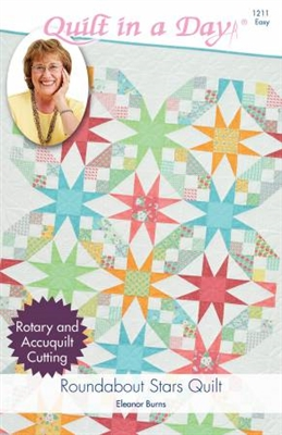 Roundabout Stars Quilt  by Quilt In A Day